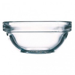 SALADIER TRANSPARENT D.26CM EMPILABLE