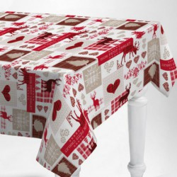 PROTEGE TABLE IMPRIME MON CHALET 140CM