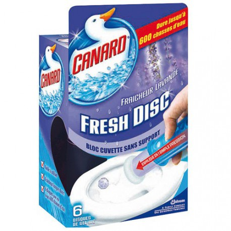 CANARD FRESH DISC LAVANDE 6 DISQ. GEL