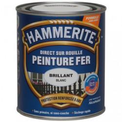 HAMMERITE FER BRI.LAQUE 0.75L BLANC