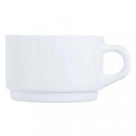 TASSE EMPILABLE BLANC 14CL