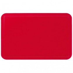 SET DE TABLE UNI ROUGE