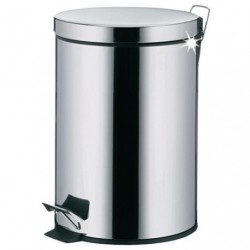 POUBELLE SDB DUSTY 3L INOX BRILLANT