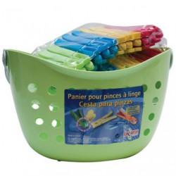PINCE LINGE PLAST. PANIER DE 24