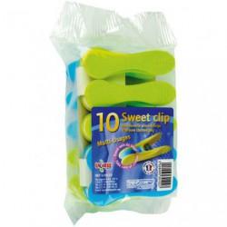 PINCE LINGE PLAST CLIP SOFT SACHET 10