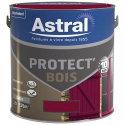 PROTECT BOIS SAT. 2.5L ROUGE BASQUE
