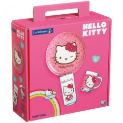 SERVICE HELLO KITTY SWEET PINCK SET 3P