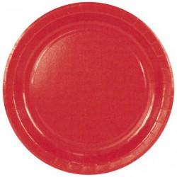 ASSIETTE CARTON D.23 RED X10