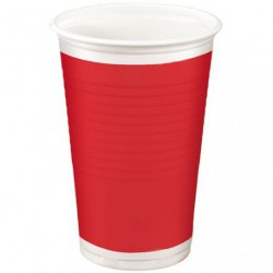 GOBELET 20CL RED X10