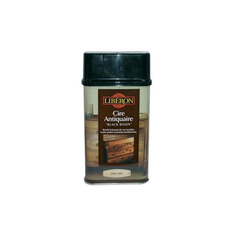 Cire black bison 0 5l lib chene clair maison de la droguerie for Cire antiquaire black bison liquide