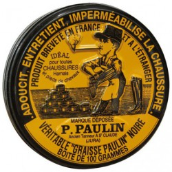 GRAISSE PAULIN CHAUSSURES 100G NOIR