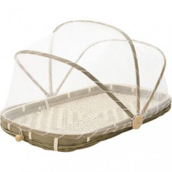 CLOCHE FRUITS FILET BLANC 45X28X5-25