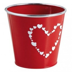 CACHE POT METAL LAQUE COEUR ASSORTI
