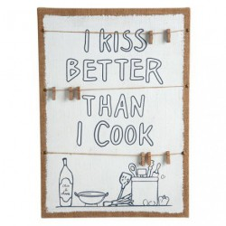 CADRE TOILE LIN KISS/COOK