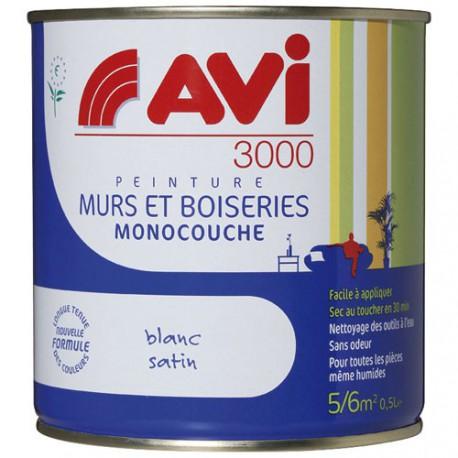 AVI 3000 SATIN 0.5L BLANC