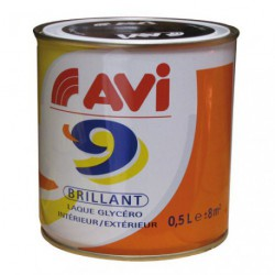 AVI 9 BRILLANT 0.5L NOIR