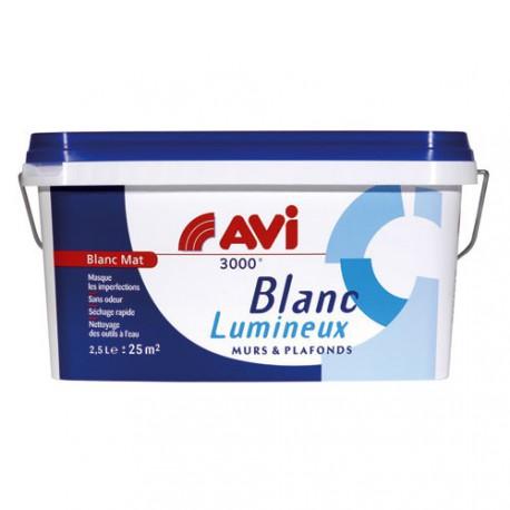 AVI 3000 MAT M ET P 2.5L BLANC LUMINEU