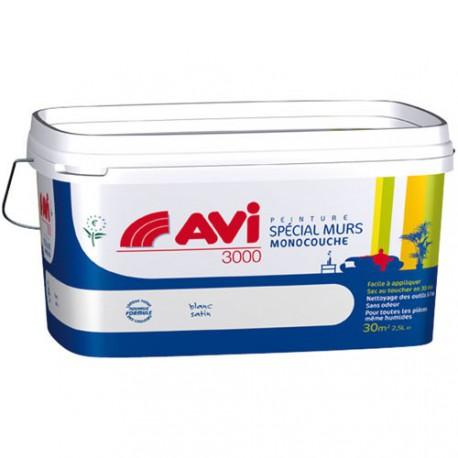 AVI 3000 SATIN MURALE 2.5L BLANC