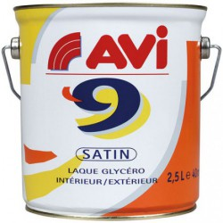 AVI 9 SATIN 2.5L BLANC CASSE