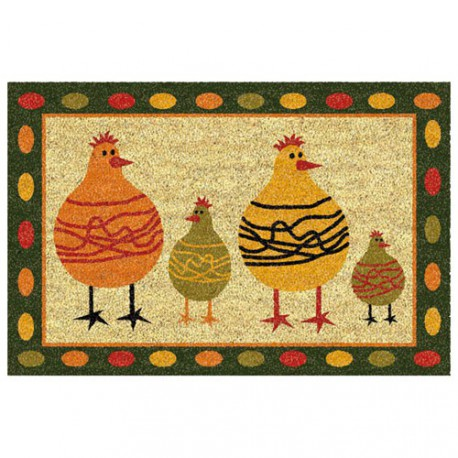 TAPIS COCO COLL.ANIMAUX BLANCH.40X60AS