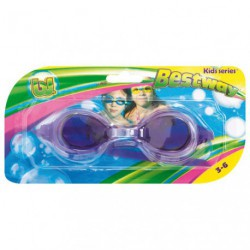 LUNETTES PISCINE SILICONE 3/6ANS ASS.