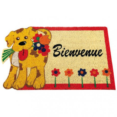 TAPIS COCO COLL.DECOUPE BLANCH.45X75AS