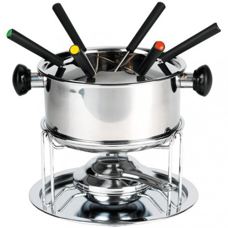 SERVICE FONDUE 12 PIECES INOX CORTINA