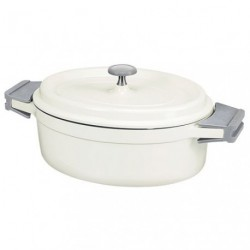 COOK ON COCOTTE OVAL 31CM 6L3 IVOIRE