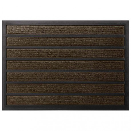 TAPIS COMBI ABSORBANT MARRON 40X60CM