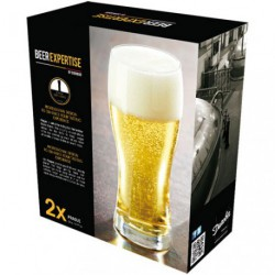 VERRE A BIERE PRAGUE 33CL X2