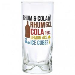 GOBELET RHUM COLA DECORE 27CL X6