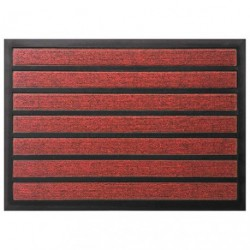 TAPIS COMBI ABSORBANT ROUGE 60X90CM