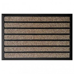 TAPIS COMBI BRUSH MARRON 45X75CM