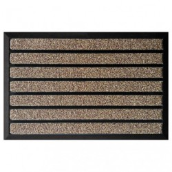 TAPIS COMBI BRUSH MARRON 60X90CM