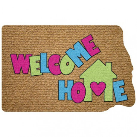 TAPIS DECOUP FLOCK WELCOME HOME 40X60C