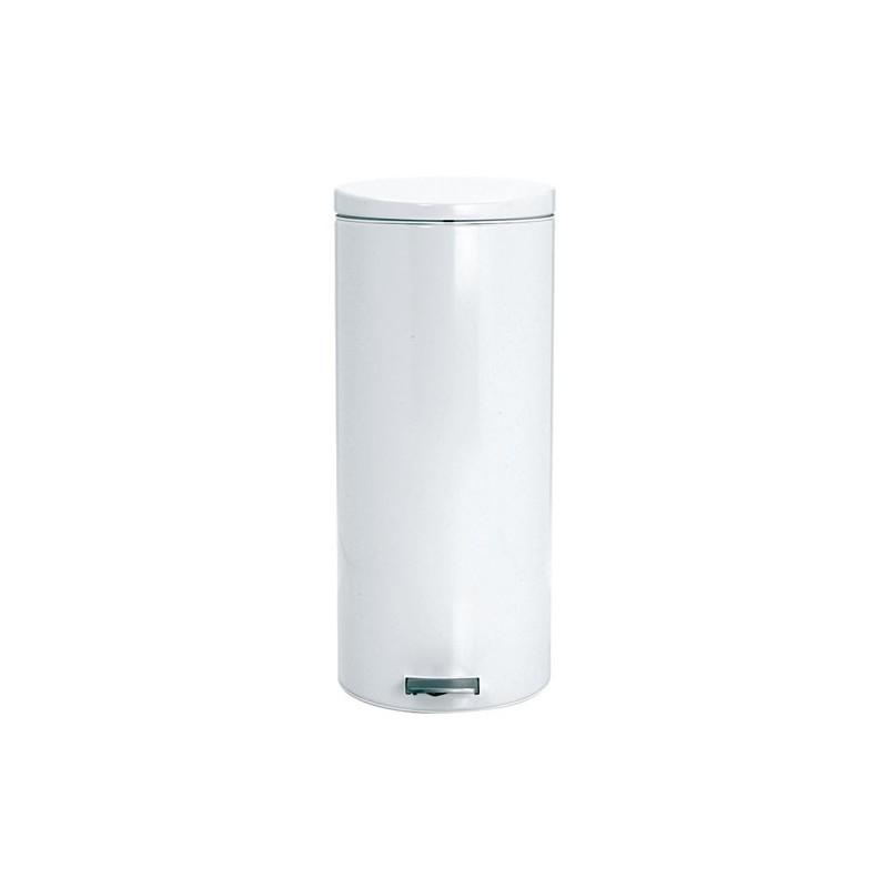 poubelle a pedale 30l motion blanc maison de la droguerie. Black Bedroom Furniture Sets. Home Design Ideas