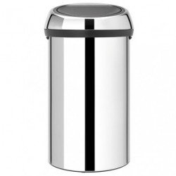 TOUCH BIN POUBELLE 60L BRILLANT STEEL