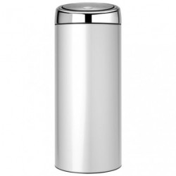 TOUCH BIN POUBELLE 30L METAL GREY