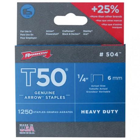 AGRAFES T50  6MM ARROW X1250       504
