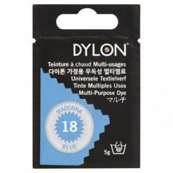 TEINT.DYLON TS TISSUS BLEU MADONE 8018