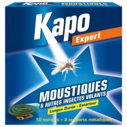 KAPO MOUSTIQUES/VOLANTS SPIRALE X10