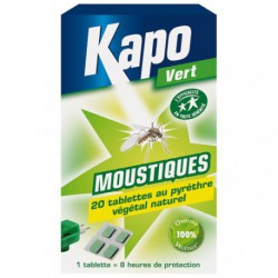 KAPO MOUSTIQ.RECHARGE X20 100%VEGETAL