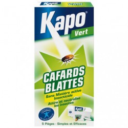 KAPO CAFARDS PIEGES ETUI DE 5     3085