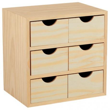 mini bloc 3x2 tiroirs maison de la droguerie. Black Bedroom Furniture Sets. Home Design Ideas