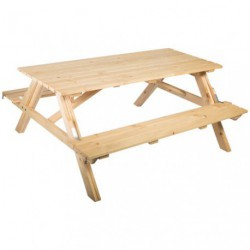 TABLE FORESTIERE PLIC NIC GM PLIABLE