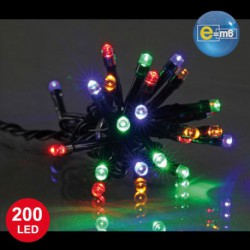 GUIRLANDE 8M 200LED 5MM MULTICOLORE