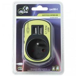 PRISE 2P+T + 2 USB POWER NOIR       SC