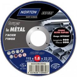 DISQUE METAUX+INOX 115X1.6 PRO NORTON