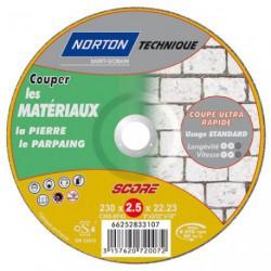 DISQUE MATERIAUX 230X2.5 SCORE 100