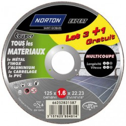 DISQUE MULTI COUPE 125X1.6 LOT  3+1